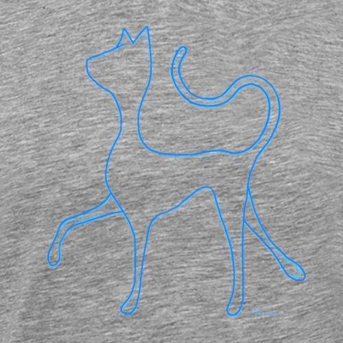 Hypnocat - Blue - Miesten premium t-paita