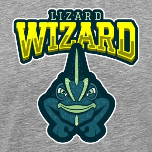 Lizard Wizard - Miesten premium t-paita