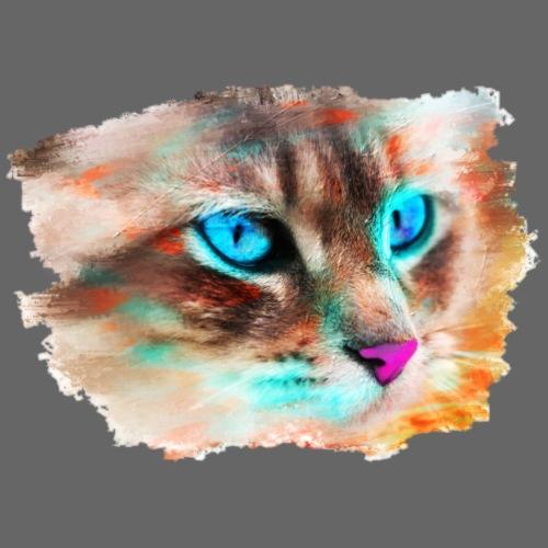 Katze im Modern Art Style - Männer Premium T-Shirt
