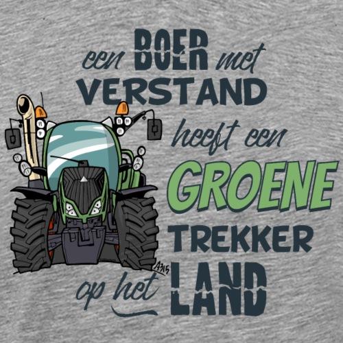 0195 Boer verstand F - Mannen Premium T-shirt