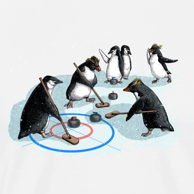 Penguins curling