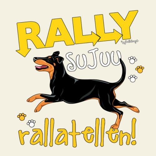 Manssi Ralletellen - Miesten premium t-paita