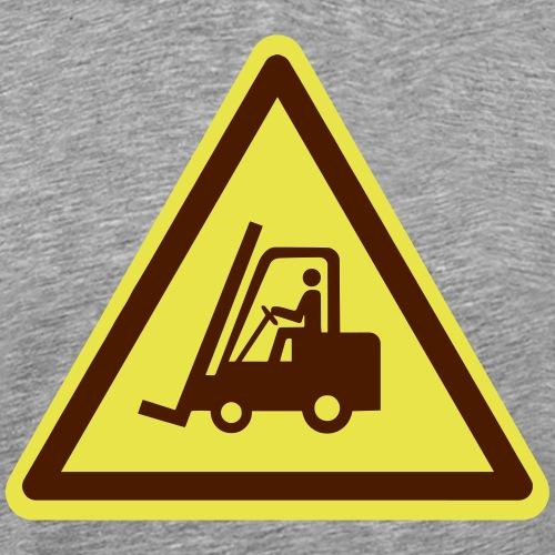 Gabelstapler Schild (Farben anpassbar!) - Männer Premium T-Shirt