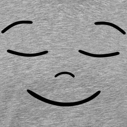 Gesicht Augen zu - Männer Premium T-Shirt