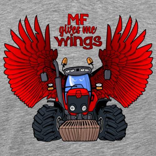 0240 MF gives me WINGS - Mannen Premium T-shirt