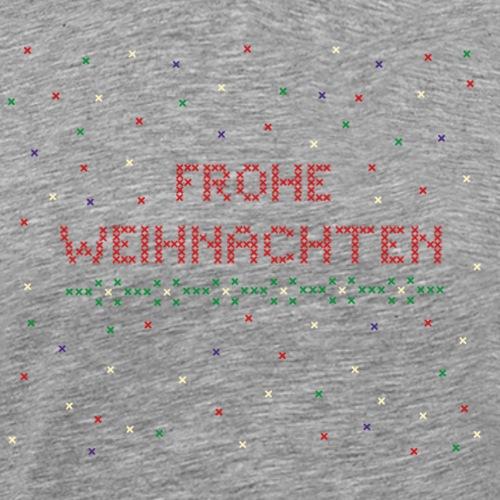 frohe weihnachten kreuzstich - Männer Premium T-Shirt