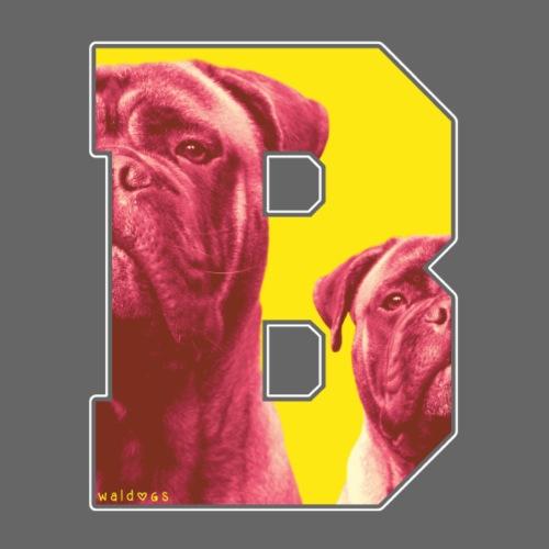 Bullmastiff B Retro I - Miesten premium t-paita