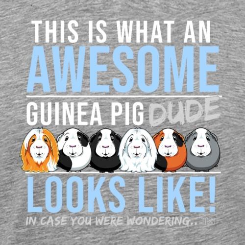 Guinea Pig Dude - Miesten premium t-paita