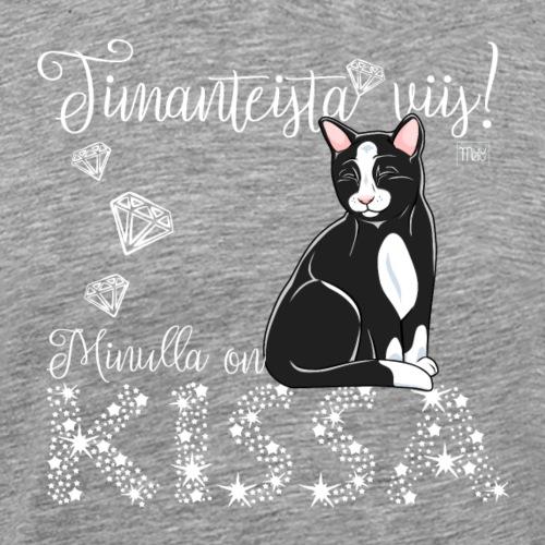 Timantti Kissa I - Miesten premium t-paita