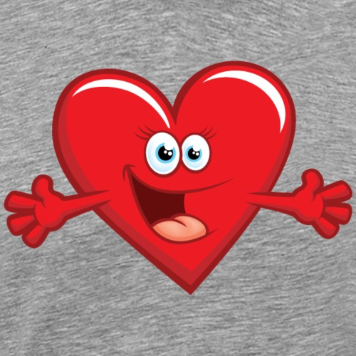 Happy Love Heart Face - Men's Premium T-Shirt