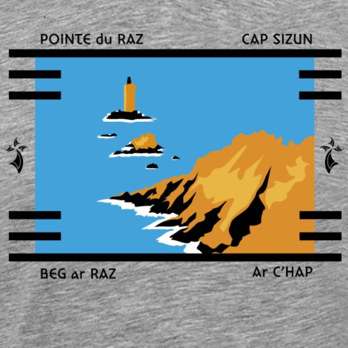 CAP SIZUN - POINTE DU RAZ - T-shirt Premium Homme