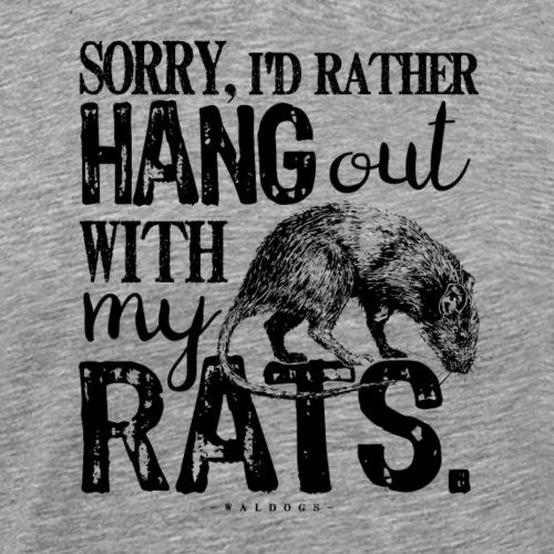 Rats Hang Out B - Miesten premium t-paita
