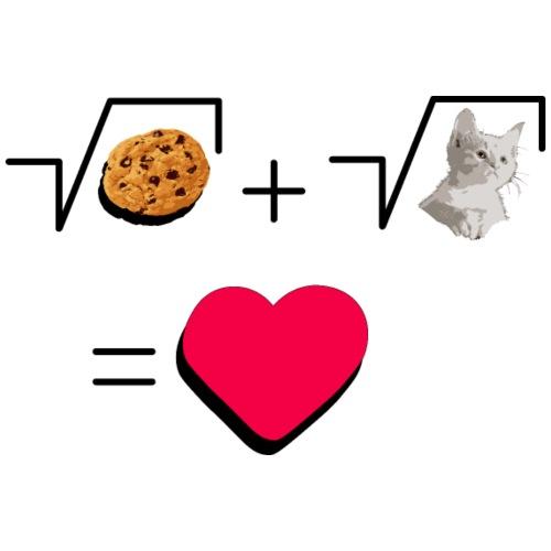Cookies and cat Cat and biscuits alike love - Men's Premium T-Shirt