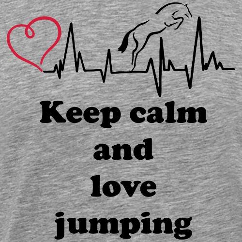 keep calm and love jumping - Männer Premium T-Shirt