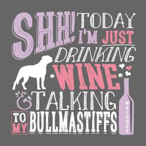 SHH Bullmastiff Wine - Miesten premium t-paita
