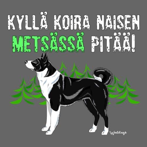 Karhukoira Naisen Metsä - Miesten premium t-paita