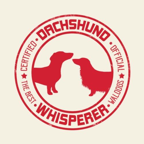 Dachshund Whisperer Pair - Miesten premium t-paita