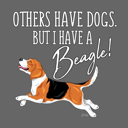I have a Beagle - Miesten premium t-paita