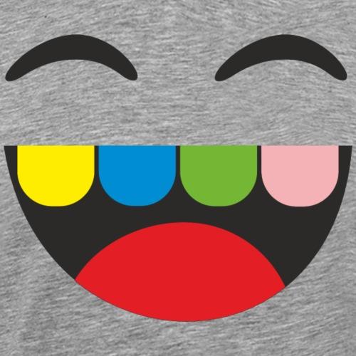 Corona - Lachen T-Shirt - Gesichtsmaske bedrucken - Männer Premium T-Shirt