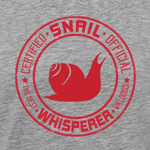 Snail Whisperer Red - Miesten premium t-paita