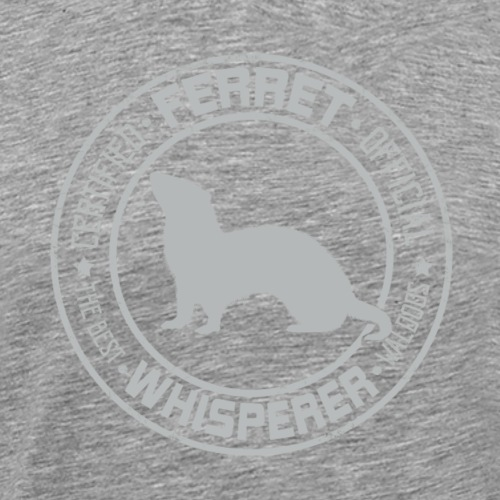Ferret Whisperer Grey - Miesten premium t-paita