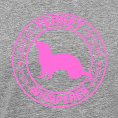 Ferret Whisperer Pink - Miesten premium t-paita