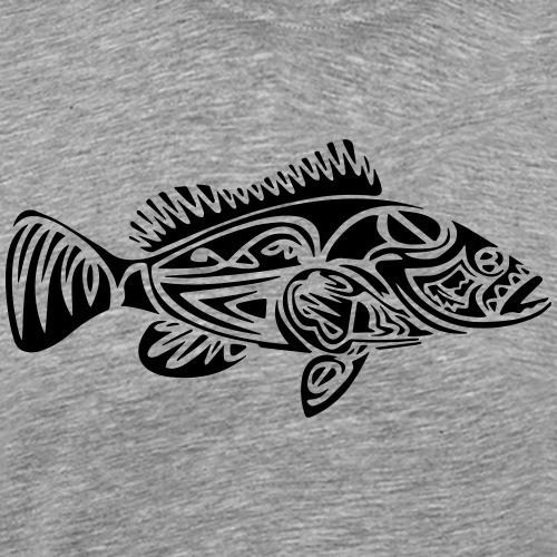 Tribal grouper - T-shirt Premium Homme