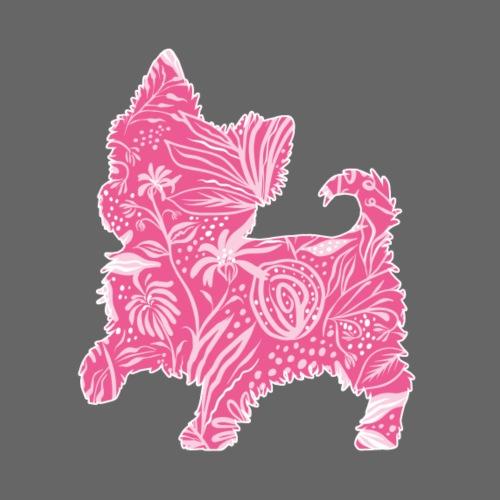 Flower Yorkie IV - Miesten premium t-paita