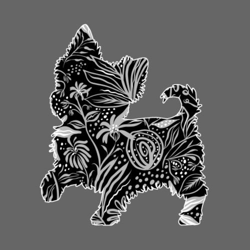 Flower Yorkie III - Miesten premium t-paita