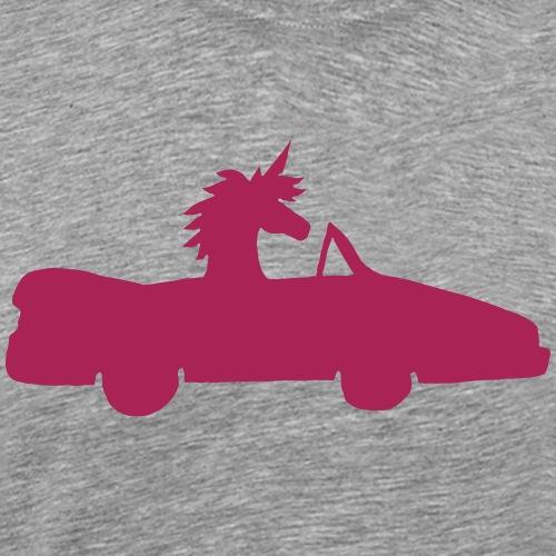 Einhorn Auto Lustig Führerschein Geschenk Cabrio - Männer Premium T-Shirt
