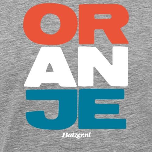 Batzer Oranje Shirt Hoodie Tanktop - Mannen Premium T-shirt