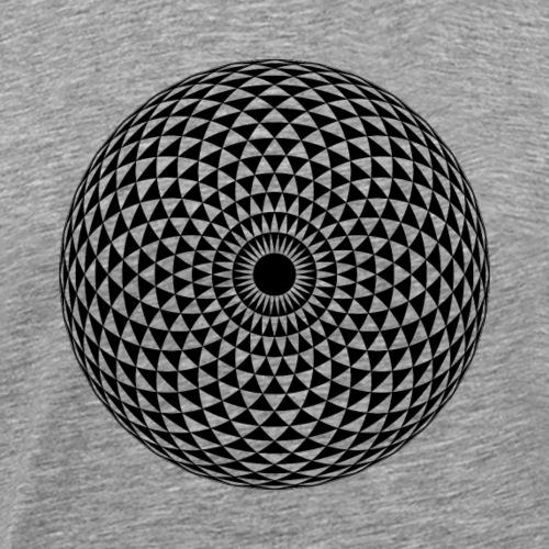 Geometric Mandala eye transparent - Men's Premium T-Shirt