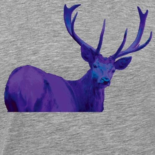 Hirsch Queer Lila - Männer Premium T-Shirt