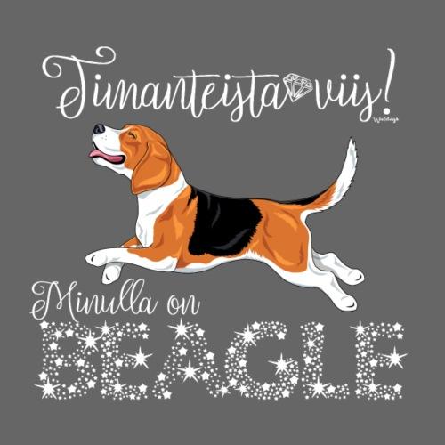 Timanttinen Beagle - Miesten premium t-paita