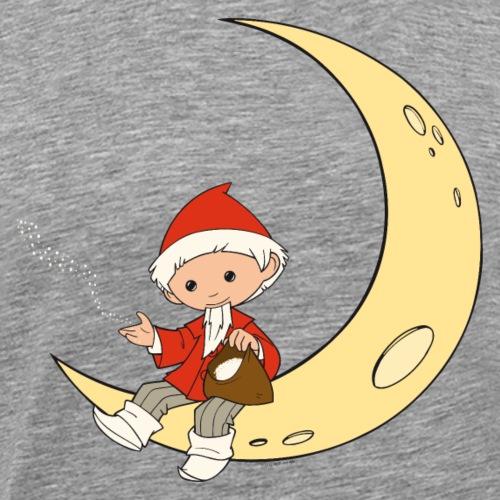 Sandmännchen sitzt auf einem Mond - Männer Premium T-Shirt