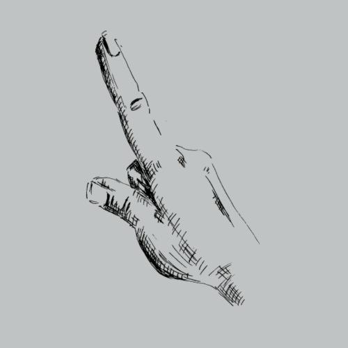 Hand point - Männer Premium T-Shirt