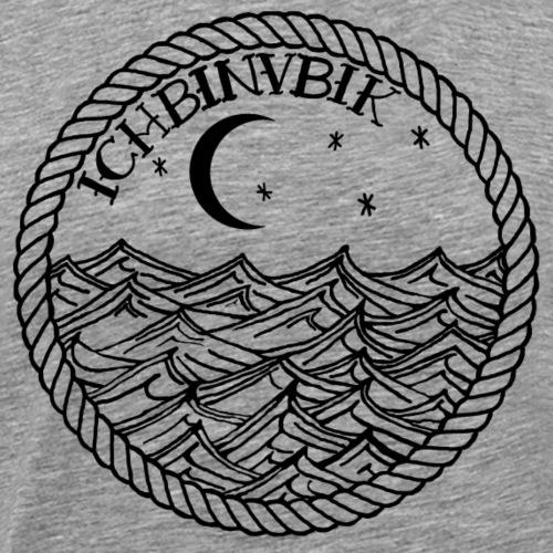 IBV Die Lichter das Meer black - Männer Premium T-Shirt