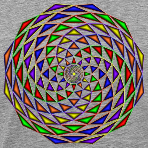 Mandala in rainbow colours - Men's Premium T-Shirt
