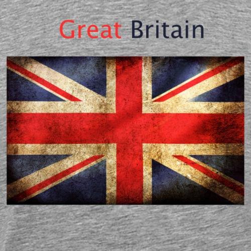 englisch flag with great britan - Mannen Premium T-shirt
