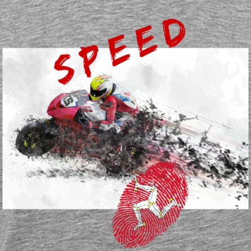 Speed - Isle of Man - Männer Premium T-Shirt