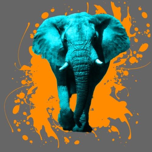 Elefant in Türkis - Männer Premium T-Shirt