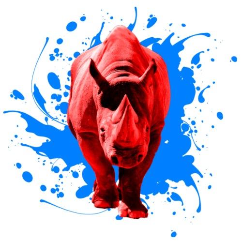 Rotes Nashorn - Männer Premium T-Shirt