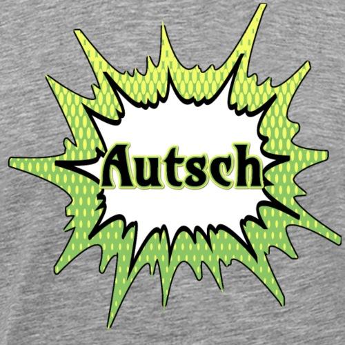 Comic Schrift Autsch - Männer Premium T-Shirt
