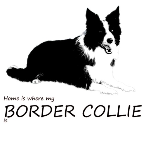 Home is where my Border Collie is - Männer Premium T-Shirt