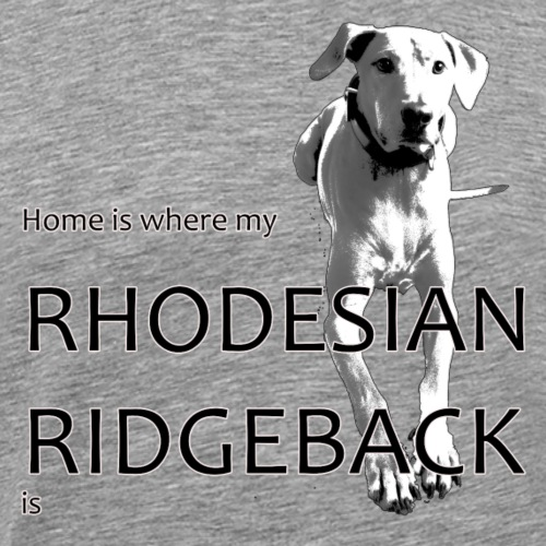 Home is where my Rhodesian Ridgeback is - Männer Premium T-Shirt