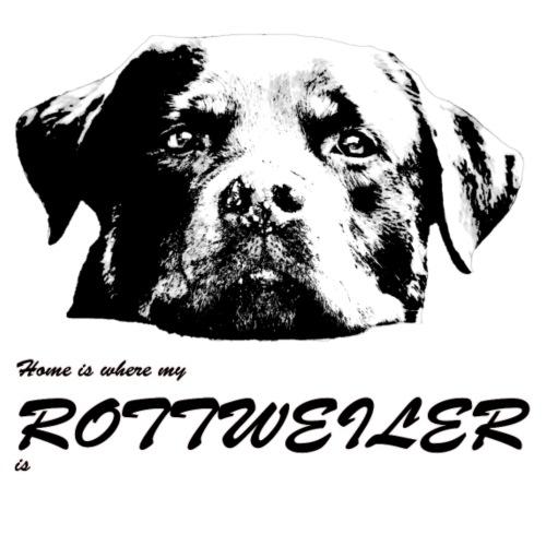 Home is where my Rottweiler is - Männer Premium T-Shirt