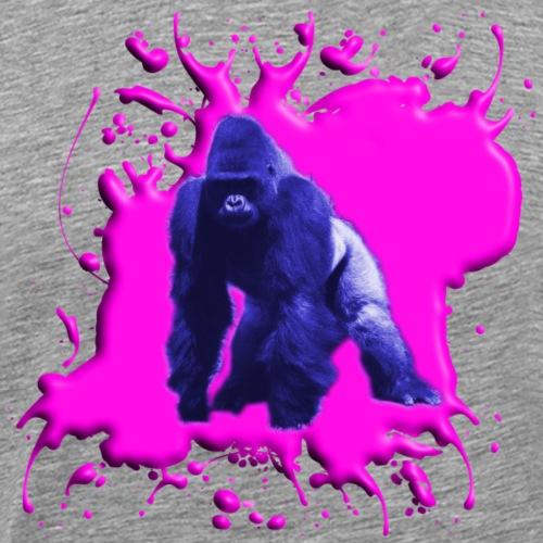 Gorilla Blau Pink - Männer Premium T-Shirt