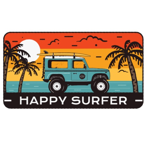 Happy Surfer - Männer Premium T-Shirt