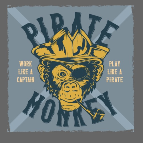 Pirate Monkey - Männer Premium T-Shirt