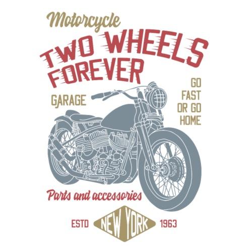 Custom Bike Retro Logo - Männer Premium T-Shirt